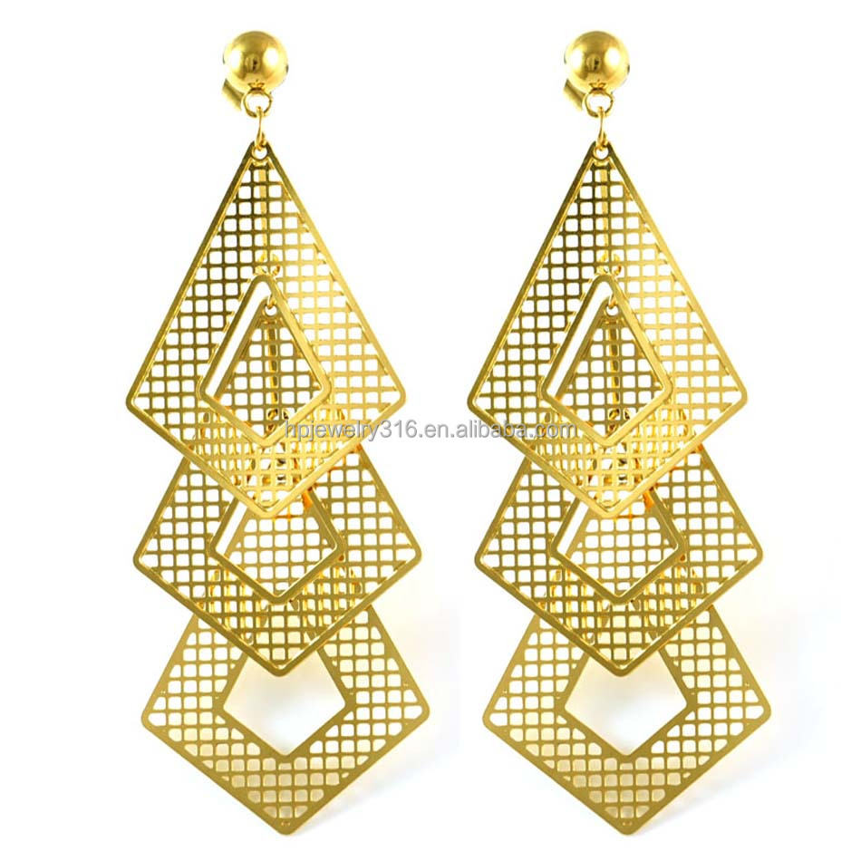 5% OFF Dropshipping Gold plated Dangle Earrings Design Gold Jewellery Earrings