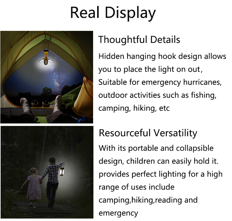 collapsible design light portable flashlight
