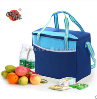 Customized 600D disposable polyester promotional insulated cooler bag