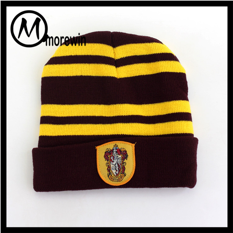 Morewin Factory Wholesale Bright Color Harry Potter Beanie Hat and Cap Warm Fashion Knit Hat