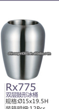 Double wall stainless steel ice bucket wine cooler /ice bucket supplier