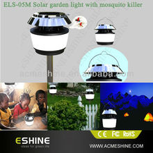 Modern Unique Design Black solar mosquito killer&repellent lamp with emergency light