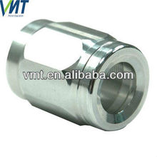 shenzhen custom cnc machined threaded aluminum coupling for pipe fitting made in china