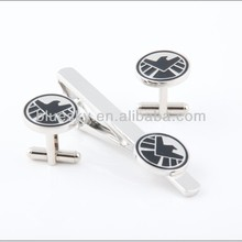 Factory supply brass tie pin and cufflink set