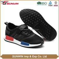 2016 Most popular mesh sports sneaker black children's shoes