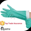 SRSAFETY Green nitrile coated safety glove long cuff nitrile Industrial Gloves