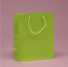 2015 colorful recycle shopping paper bag with handle Custom printed christmas paper shopping bags for cloth