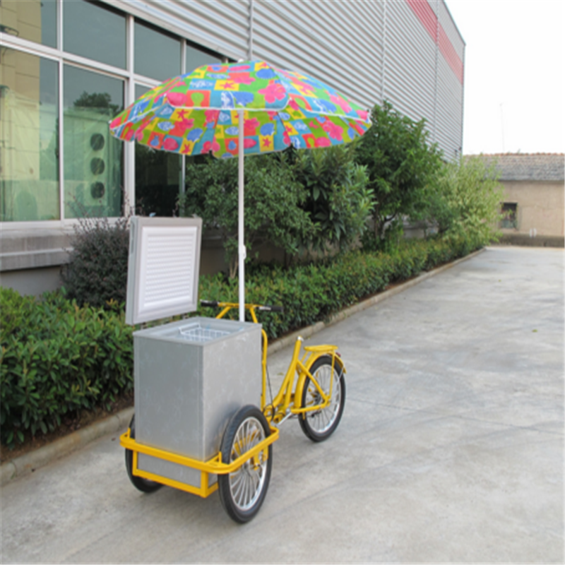 Electric ice cream tricycle pedal assistant/front loading cargo tricycle