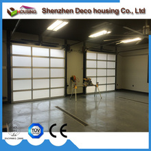 Best quality heat and sound insulation waterproof glass garage door prices with fly screen glazed