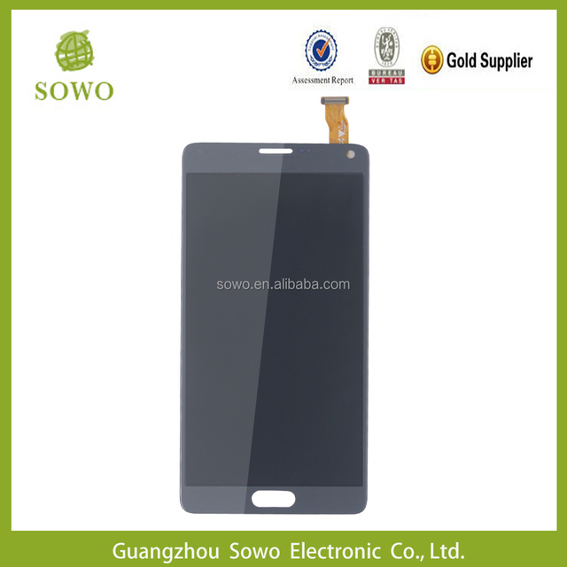 Long warranty mobile phone for samsung galaxy note 4 unlocked lcd for galaxy note 4