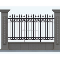 custom painting wrought iron fence design