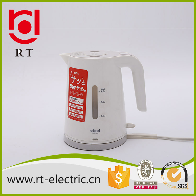 wholesale kitchen appliance High Quality 1 litre cordless plastic electric kettle