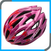 alibaba hot sale pink glossy road cycle helmet in China,branded bicyle helmet