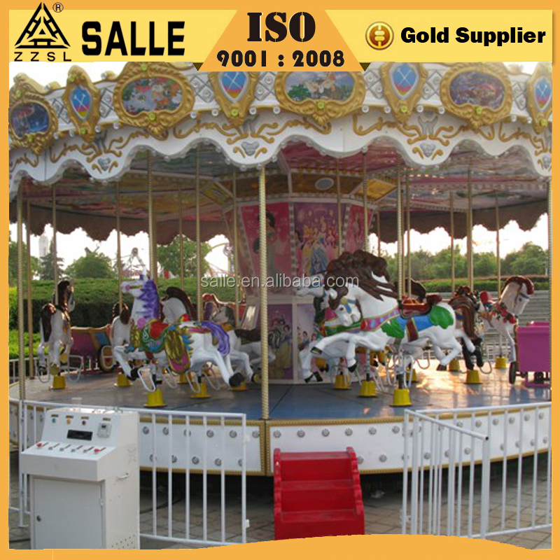 China amusement park playground equipment merry go round kiddie rides carousel for sale
