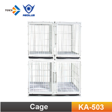 KA-503 Collapsible Powder Coated Dog Transport Cage Modular Pet Cage Bank