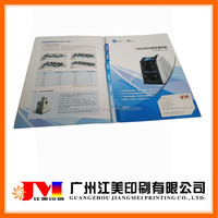 China Cheap Professional Hot Selling Paper Material and Presentation Folder Type Punched Pockets Folder