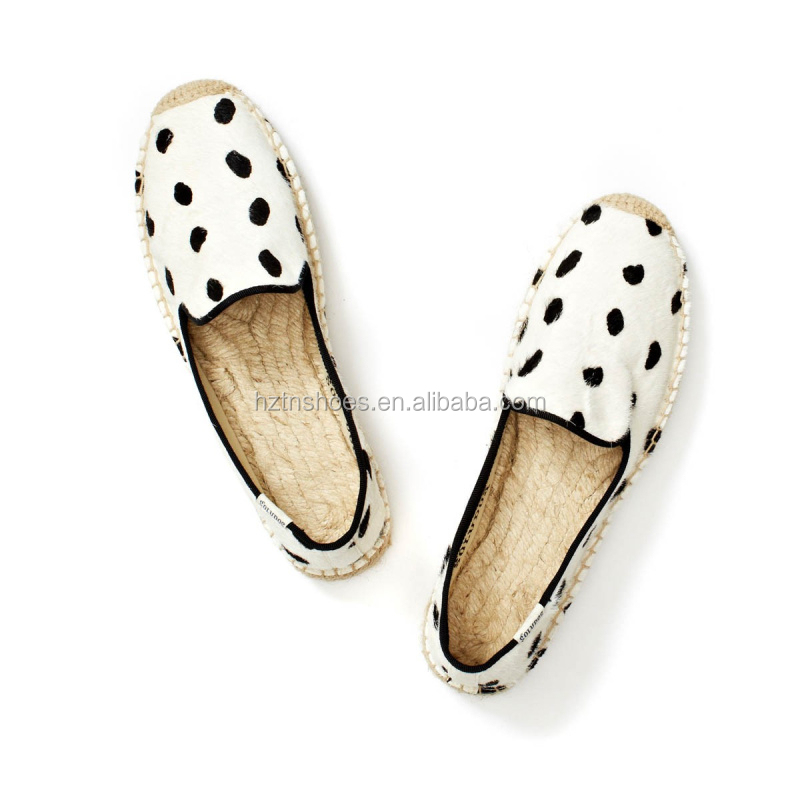 Soft casual shoe horsehair good quality women shoe espadrille wholesale