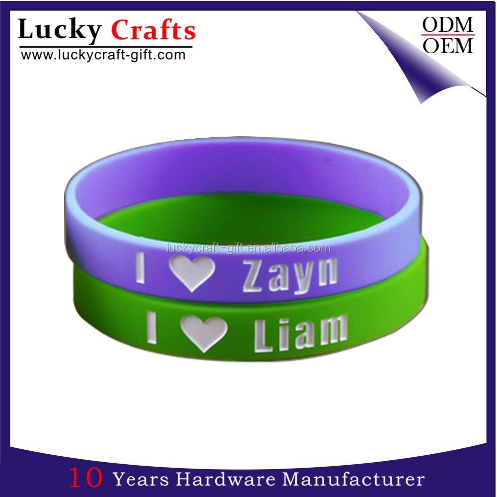 Lovers silicon bracelet personalisable for promotion no minimum