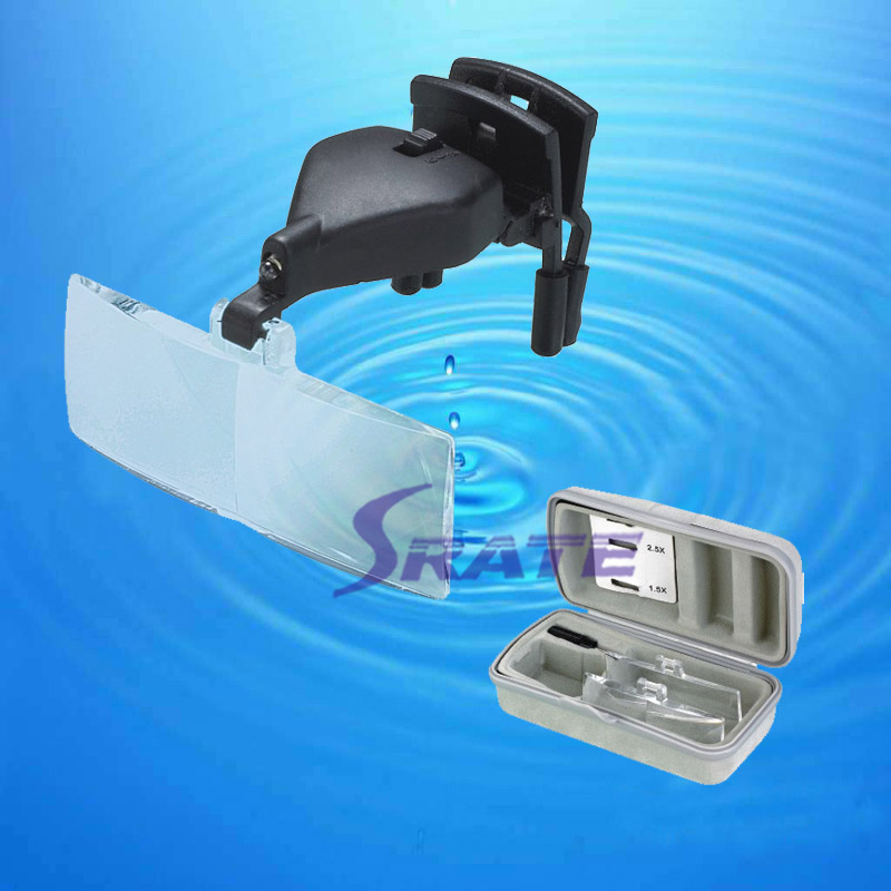 Eyelash LED Eye Glasses Clip Magnifying Glass Loupe
