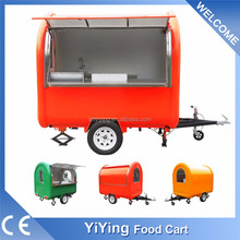 YY-FR220B Most popular electric hot dog/hamburger motorcycle snack trailer