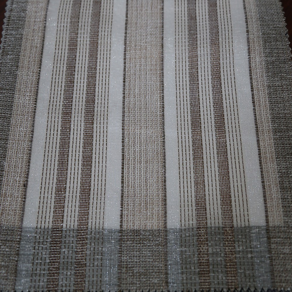 Newest polyester woven ikat tulle sheer curtain fabric for home decor