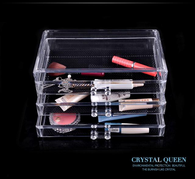 custom acrylic cosmetic display plexiglasss makeup storage display stand supplier