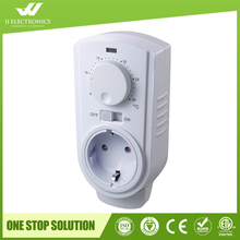 2017 New design with CE and ROHS Plug In Analogue Electronic 120v AC White Color Room Thermostat
