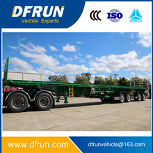 flat top with extendable beam semi trailer for Timber dunnage carrier / flat top slider truck trailer for fan blade transporter