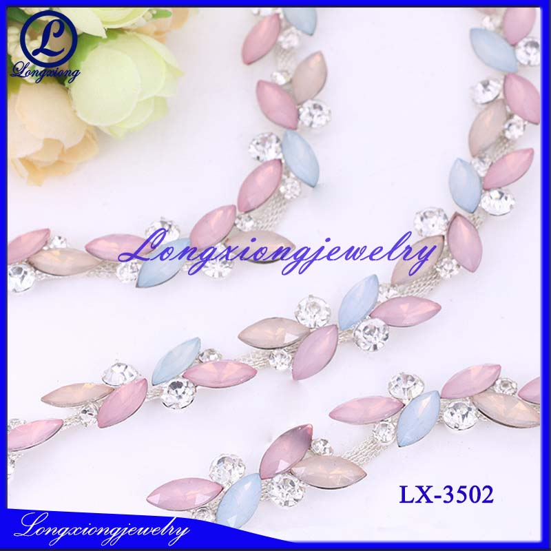 Jewelry Fashion Purple Rhinestone Chain