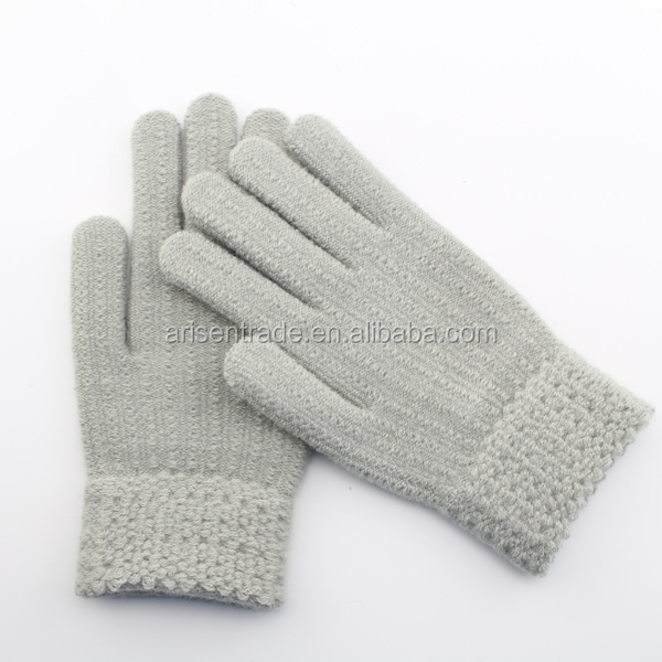 custom embroidered mitten gloves wholesale cotton knitted gloves