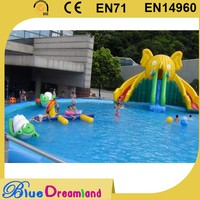 Professional inflatable square swimming pool for kids
