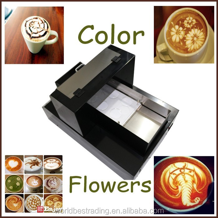 A4 Automatic Cake Chocolate Foam Coffee Printer Digital Coffee Printing Machine Edible Ink