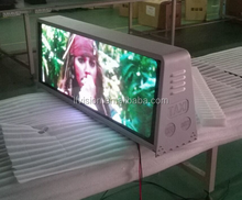 Waterproof Dual Side Topper Billboard P5 Full Color Taxi Top LED Display Outdoor Advertising Car Roof Screen 3G /4 G / WiFi