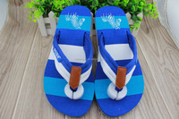 2015 cheap import slipper china fabric upper flip flop slipper colorful eva sole
