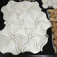 White Century Marble Mosaic For Sale