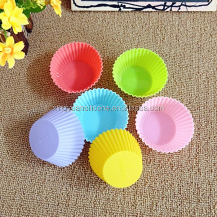 2017 Popula and new design cheap muffin cup shaped cake mold mini silicone cake baking molds
