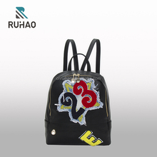 2017 stylish women custom bags genuine leather backpack