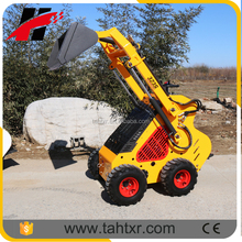 Mini skid steer loader with four in one bucket compare Dingo Kanga