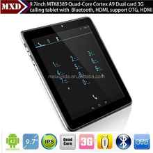 9.7 inch tablet 3g phone call & dual camera quad core 10 inch tablet pc with sim slot