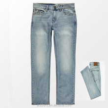 Straight leg loose boyfriend men jeans original brand thiland denim used denim bulk wholesale OEM boys wear