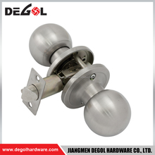 Popular Stainless Steel double action round knob tubular cylinder lock