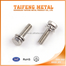 Carbon Steel Double Washer Captive Indented Hexagon Screw
