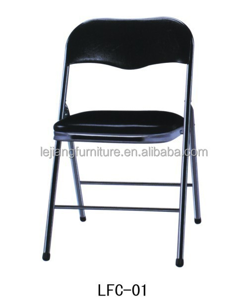 Metal Leather Folding Floor Chair Living Room Furniture