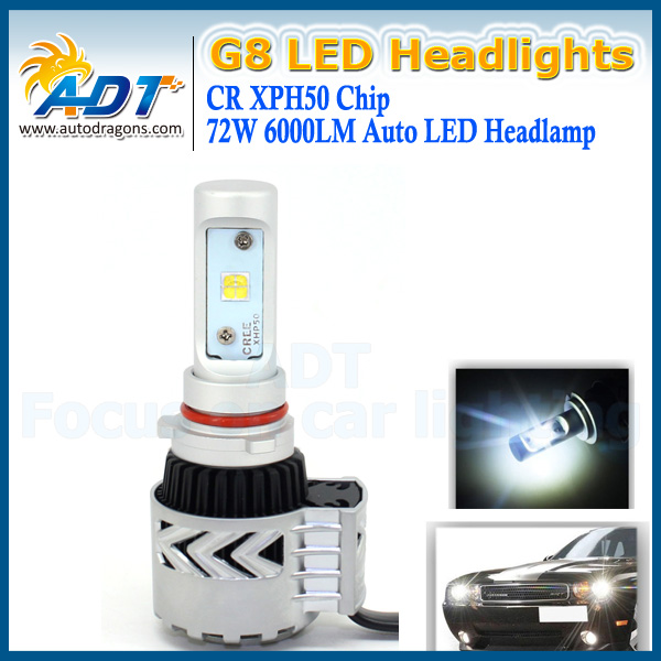36W 6000LM H4 Hi/Lo 6000K 72W 12000LM all in one G8 led headlight For A4L/ A6/ Q5/ Q7