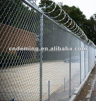 High Quality low carbon steel wire, stainless steel wire, PVC coated wire chain link fencing(DM factory)