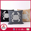 Crab sequin embroideryion soft cushion, chair seat with decorative cushion for family home