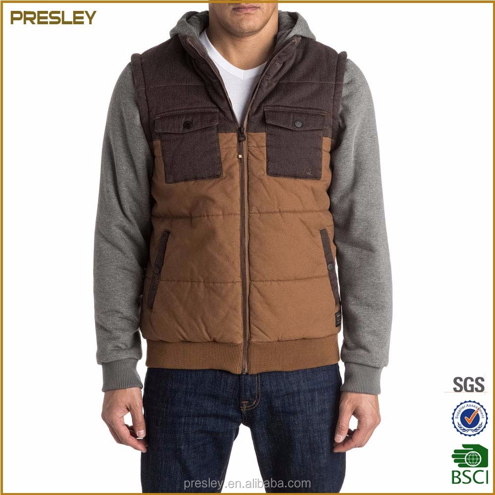 Light foldable color outdoor man jacket winter wear 100% polyester down padded jacket garment custom jacket with hood