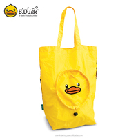 B.Duck cute promotional nylon bas lovely design flodable recycle bag