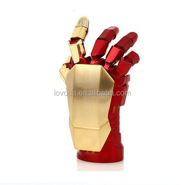 Hot sale Fashion Avengers Iron Man 3 hand LED USB Flash/2tb usb flash drive/usb flash drive 512gb LFN-057