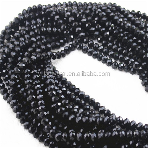 Cheap Rondelle Crystal Beads Wholesale/faceted crystal rondelle glass beads factory